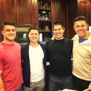 Roland Sansone Las Vegas and sons Miles, Neil and Devon